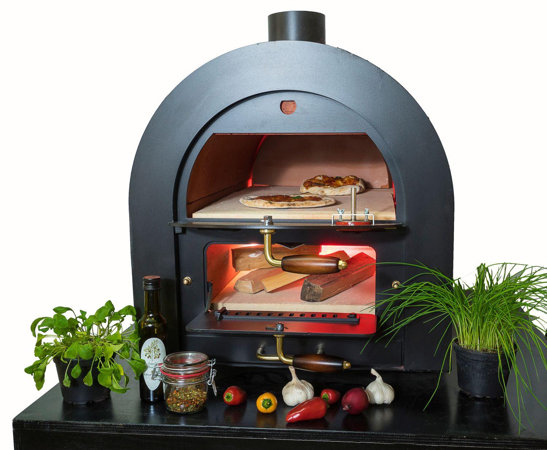 Steinbackofen Holzbackofen Pizzaofen Bausatz Valoriani mit indirekter Befeuerung damit backen Sie die perfekte italienische Pizza