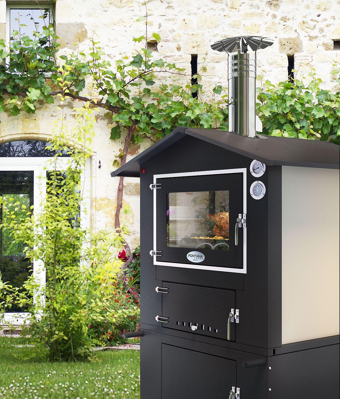 Holzbackofen Pizzaofen Fontana Fornolegna 80x45 mobiler Gartenofen