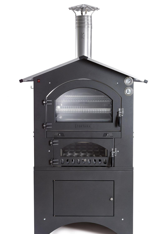 Holzbackofen / Pizzaofen Fontana Gusto 80x54 ein Premium Gartenofen der Extraklasse