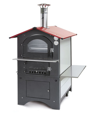 Holzbackofen / Pizzaofen Fontana Rosso 80x45