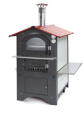 Holzbackofen / Pizzaofen Fontana Rosso 80x54