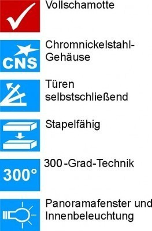 Brotbackofen NBO 12 Elektro-Steinbackofen Wärmespeicher-Backofen