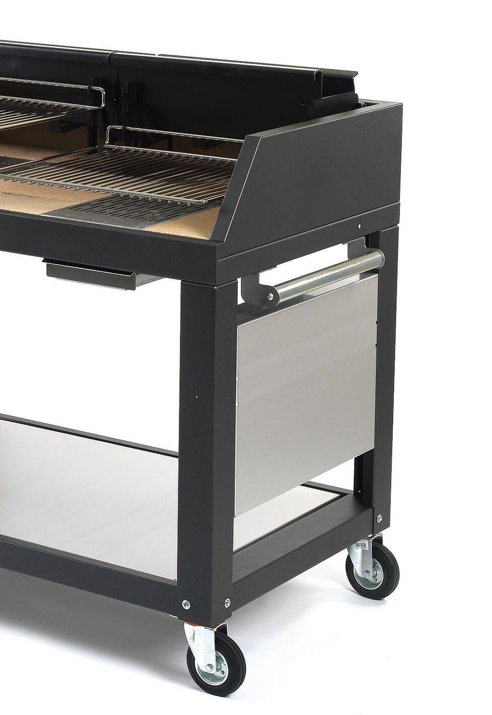 Grill Fontana Egeo 110 für Holz und Kohle Befeuerung mit fahrbarem Unterwagen
