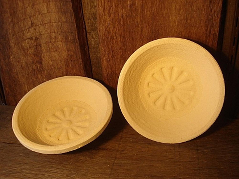 Gärkorb Gärkörbchen Simperl aus Holzschliff für 1 kg Brote rund mit Bodenmuster Sonne