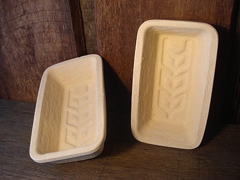 Gärkorb Gärkörbchen Simperl aus Holzschlif für 0,75 kg Brote mit eckig Bodenmuster Ähre