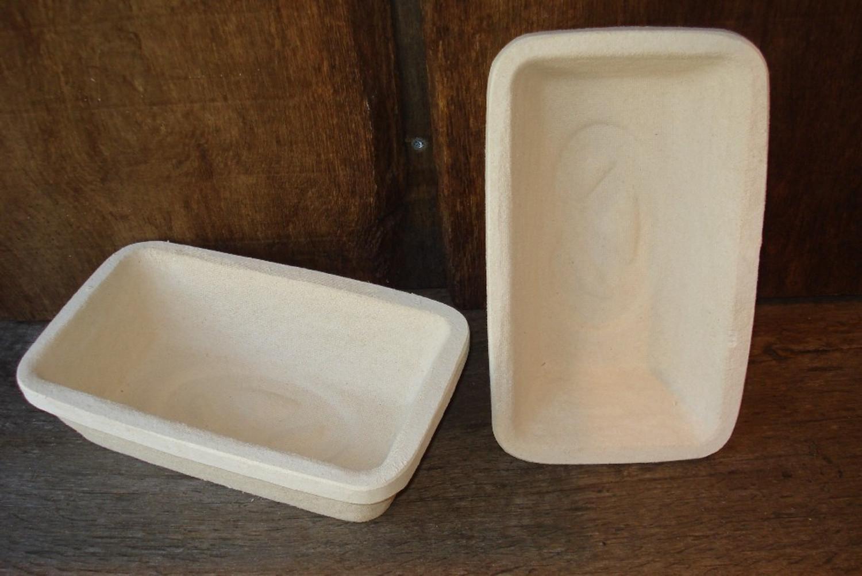 Gärkorb Gärkörbchen Simperl aus Holzschliff für 0,75 kg Brote eckig ohne Muster