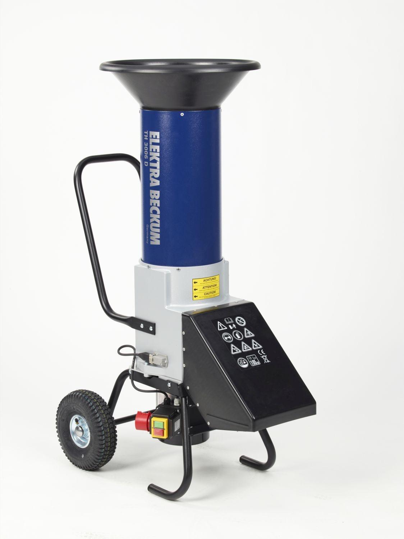 Gartenhäcksler TH 3006 D 400 V Elektra Beckum Detail Schneidsystem und klappbarer Einfüllstutzen