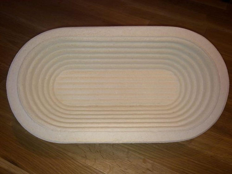 Gärkörbchen Holzschliff für ein Brot von 0,75 kg oval Rillenmuster