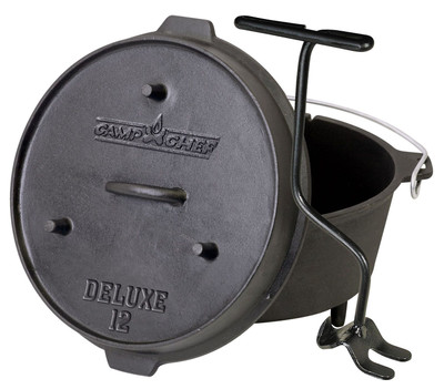 Dutch Oven Camp Chef Deluxe DO-12 Gusseisen-Kochtopf