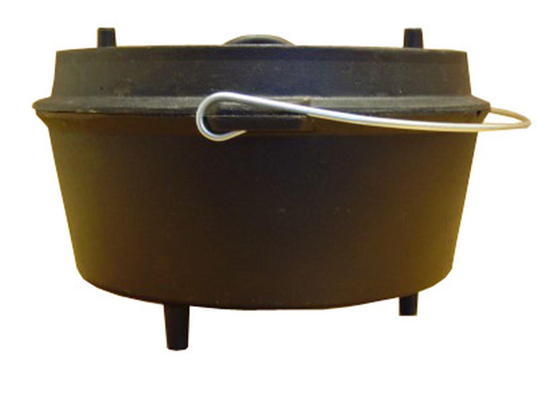 Dutch Oven Gusseisen Kochtopf Feuertopf Camp Chef DO14 Topf und Deckel mit gesamt 11,35 Liter Volumen
