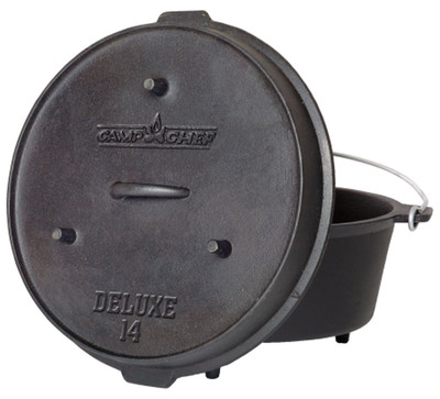 Dutch Oven Camp Chef Deluxe DO-14 Gusseisen-Kochtopf