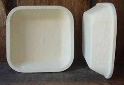 Gärkorb Gärkörbchen Holzschliff für 2 kg Brote quadratisch glatt, inkl. Info