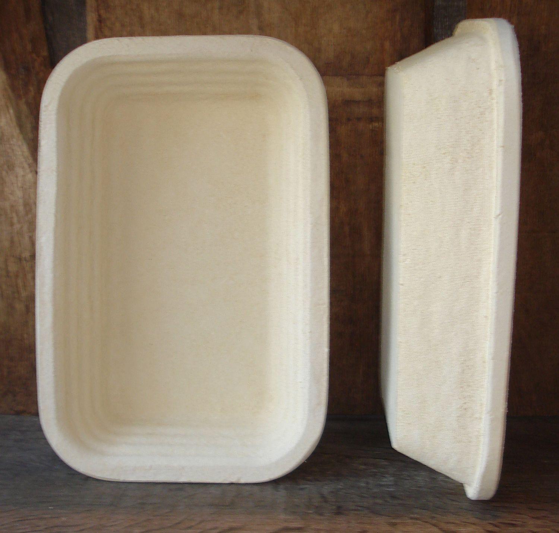 Gärkorb Gärkörbchen Simperl aus Holzschliff für 2,5 kg Brote eckig glatt
