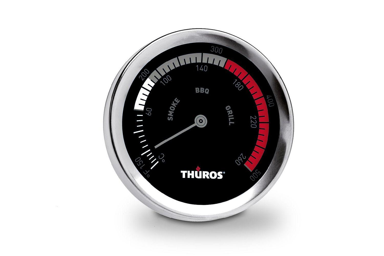 Thüros Thermometer für Grills, Smoker und Räucherschränke bis 260° C zur präzisen Bestimmung der Temperatur im Garraum