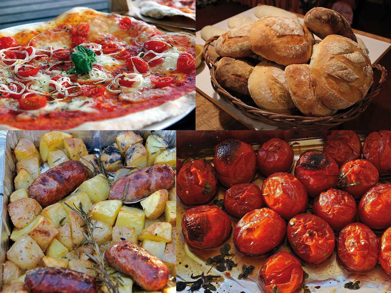 Pizzaofen Holzbackofen Margherita in Dachfarbe rot