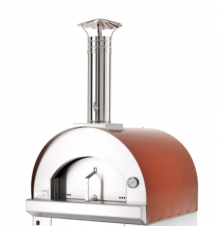Pizzaofen Holzbackofen Margherita Standgerät ohne Unterwagen, Dachfarbe rot