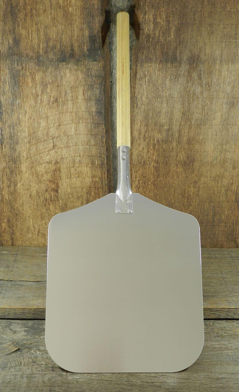 Pizzaschaufel Brotschieber aus Aluminium eckig 320,5 x 35,5 cm mit Holzstiel Gesamtlänge 79 cm lang
