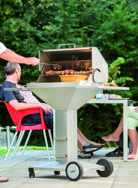 Thüros T3 BBQ-Station TKE 42 BBQS Barbecue Holzkohlegrill aus hochwertigem Edelstahl Made in Germany