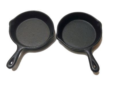 Guss-Mini-Pfannen 2-er Set Ø 11 cm Tapaspfanne Servierpfanne Portionspfanne