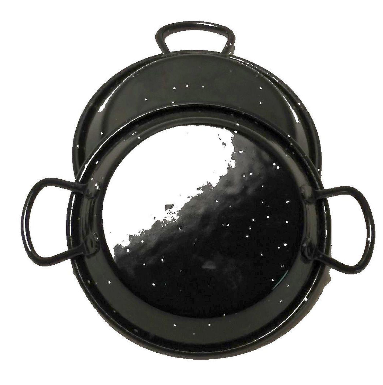 Mini-Pfannen 2er Set Ø 12 cm flach ideal als Tapaspfanne, Portionspfanne oder Servierpfanne