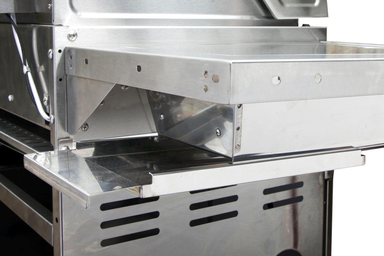 Gasgrill Allgrill ALLROUNDER IV Voll-Edelstahl Ausstattung, 4 Stab-Brenner, 1 Steakzone®, 1 Backburner, 1 Seitenkochfeld