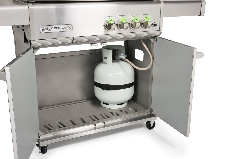 Gasgrill CROSSRAY by HEATSTRIP 4-Brenner mit Infrarot-Technologie