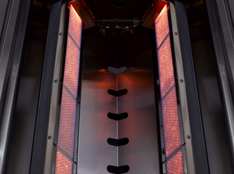 Einbau-Gasgrill CROSSRAY by HEATSTRIP 2-Brenner mit Infrarot-Technologie