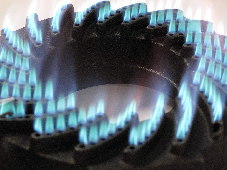 Hockerkocher Gaskocher 30x30 cm mit Zündsicherung auch für den Gebrauch in Innenräumen geeignet