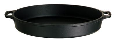 Gusseisen-Pfanne mit 2 Griffe 40 cm Durchmesser