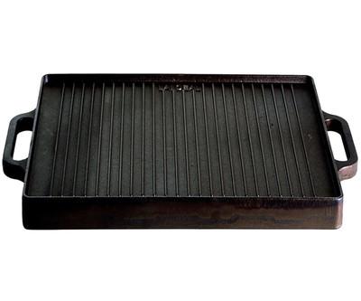 Gusseisen Grillplatte Plancha 38 x 38 cm beidseitig verwendbar