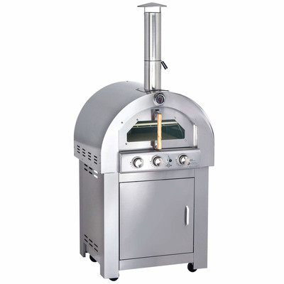 All'Grill Gas Pizzaofen Voll-Edelstahl Ausführung mit AIR SYSTEM