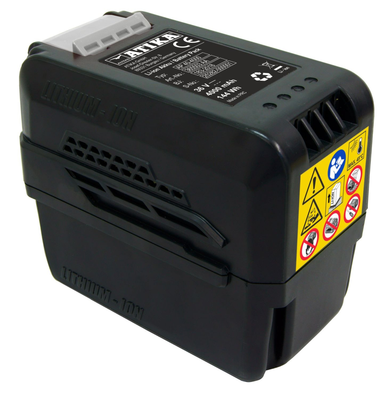 ATIKA AKKU AP 40-4000 leistungsstarker 36 Volt Akku mit einer Ladekapazität von 4,0 A/ 144 Wh