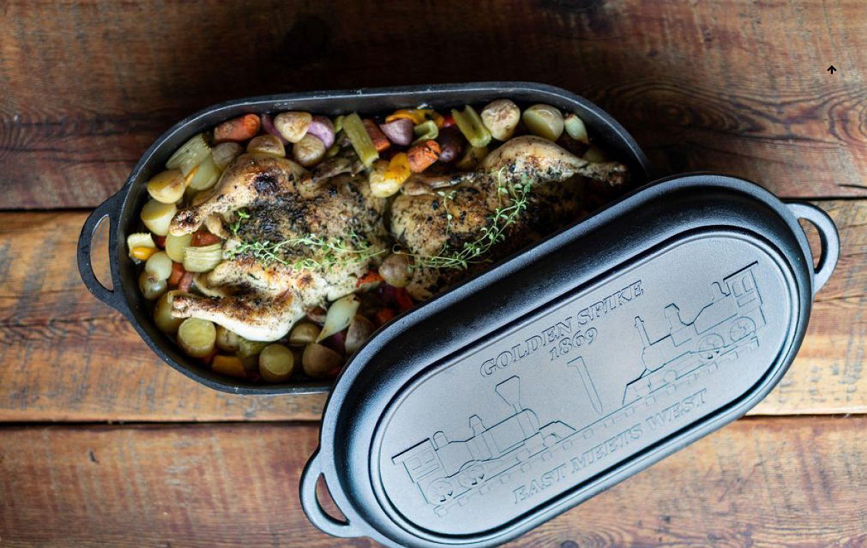 Camp Chef Dutch Oven DOOV18 Golden Spike Gusseisen Kochtopf Bräter Brotbackform vielseitiger und einzigartiger Dutch Oven