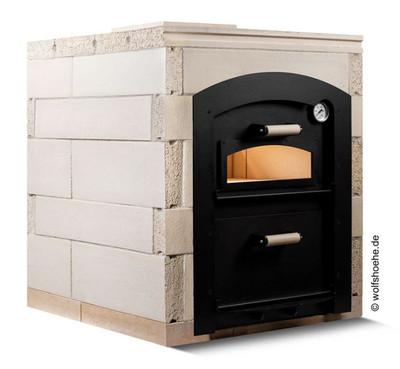 Holzbackofen Steinbackofen Bausatz REMUS DUO doppelstöckig | 3 Größen zur Auswahl
